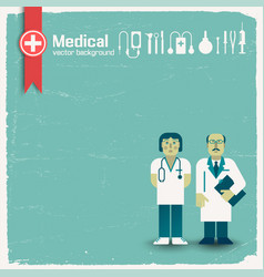 Doctor and medicine background vector