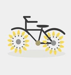 idea bicycle bulb vector image