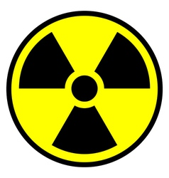 Radiation warning symbol icon vector