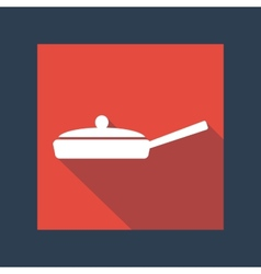 frying pan icon vector image