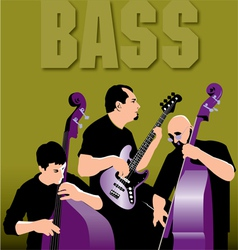 Bass players vector