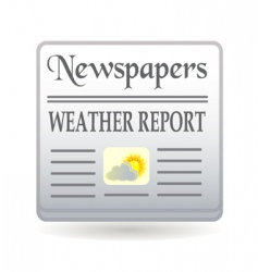 Newspaper weather report vector