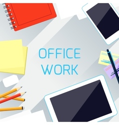 Office work and workplace organization concept vector
