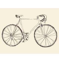 Bicycle Racing Bike Hand Drawn Sketch vector image
