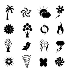 weather nature icon vector image