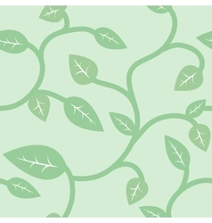 Seamless summer and spring pattern with leaves vector