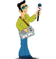 Broadcaster cartoon vector