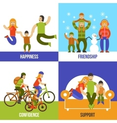 Family design concept vector