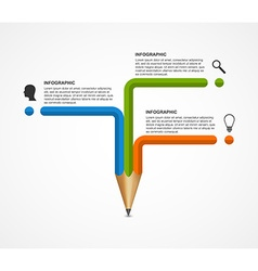 Education pencil option infographics design vector