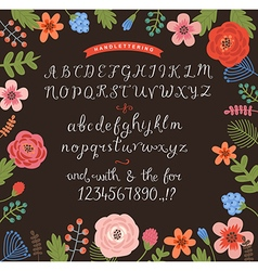 Handwritten alphabet vector