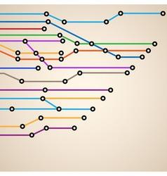 Abstract subway map eps10 vector