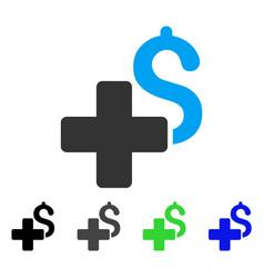 Add dollar flat icon vector