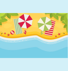 beach flat design background vector image