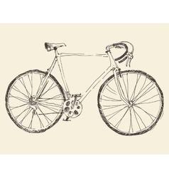 Bicycle racing bike hand drawn sketch vector