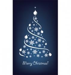 Christmas tree blue vector image