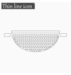 Colander icon style thin line vector
