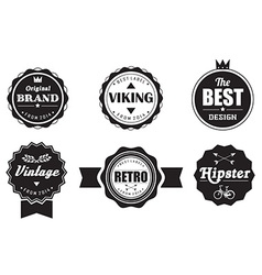 Collection of vintage retro labels badges stamps vector image vector image