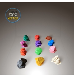 Colorful plasticine background vector image vector image