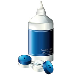 Contact lens solution vector