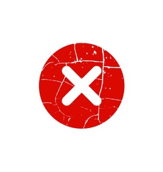 Cross red sign element vector image
