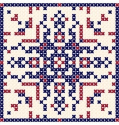 Cross stitch pattern scandinavian ornament vector