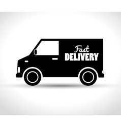 Delivery fast truck transporting design vector