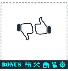 Dislike like icon flat vector image