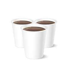 Disposable coffee cup isolated on white background vector image