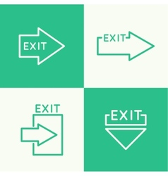 Emergency exit sign vector image