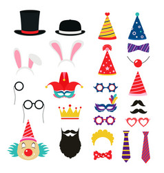 festive birthday party elements of props vector image