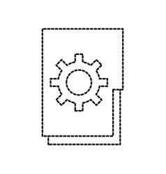 Folder file gear solution innovation work team vector