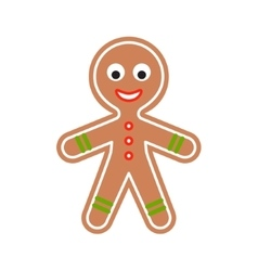 Gingerbread man cookie vector