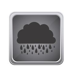 gray emblem cloud rainning icon vector image