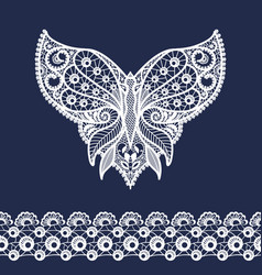 lace neckline and border vector image