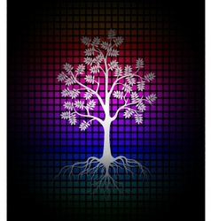 modern tree silhouette background vector image vector image