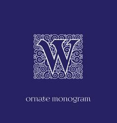 Monogram w vector