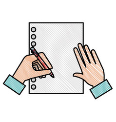 note book with hand writen vector image