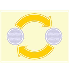 scheme with two stages vector image vector image