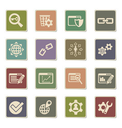 Seo and development icon set vector
