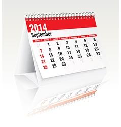 September 2014 desk calendar vector