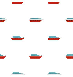 yacht pattern seamless vector image vector image