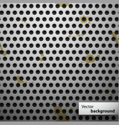 Grunge metal speaker grill seamless pattern vector