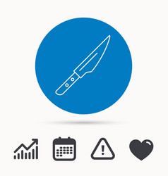 Kitchen knife icon chef tool sign vector