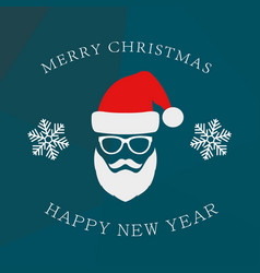 hipster style christmas greeting card vector image