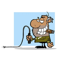 Boss with whip cartoon vector