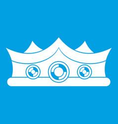 King crown icon white vector