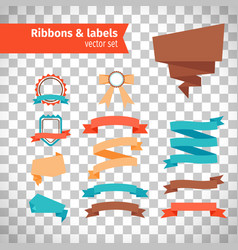 ribbons and labels in modern style vector image