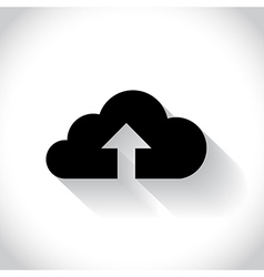 Cloud uploading vector