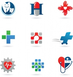 healthy icons vector image