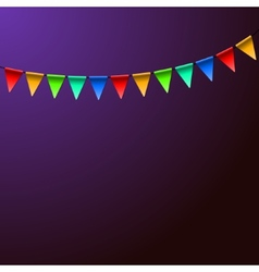 Holiday birthday colorful flags background vector
